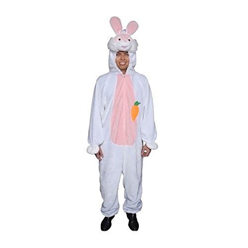 Dress Up America volwassenen pluche paashaas mascott kostuum wit