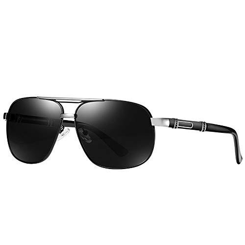 Raxinbang Gafas de Sol Nuevas Gafas De Sol Polarizadas for Hombre Gafas De Sol Retro Clásicas Gafas De Conducción for Exteriores Protección UV400 Personalidad Patas De Espejos Lentes Grises