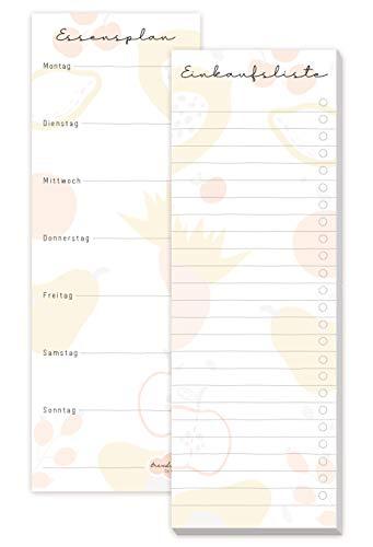 Einkaufsliste Block [Fruity] inkl. Magnet, 50 Blatt - im Hochformat   Einkaufszettel Notizblock + Essensplaner von Trendstuff by Häfft   nachhaltig & klimaneutral
