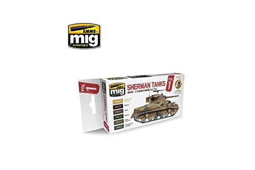 Ammo MIG-7169 WWII Commonwealth Sherman Tanks zestaw farb akrylowych, wielokolorowy