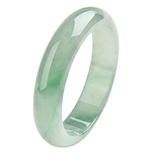 Brazalete de Jade Natural Pulseras de Jade Healing Energy Hand Cutting Green Pure Jade Brazaletes para Mujer, 56mm / 2.20inch