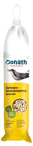Donath Energie-Spender geschälte Sonnenblumenkerne - 500g – schalenfrei und praktisch zum Aufhängen - wertvolles Ganzjahres Wildvogelfutter - aus unserer Manufaktur in Süddeutschland