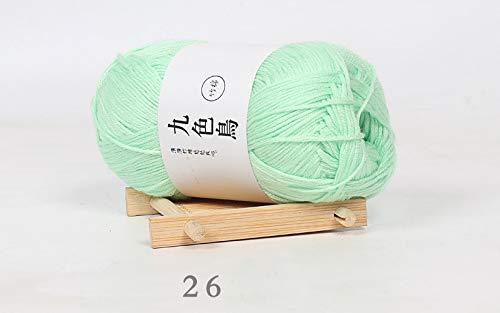 Xinchenglove 1.76 onzas/3.52 onzas/7.05 onzas/ovillos Tiansi algodón carbón de bambú línea de bebé hilo de tejer de lana fina línea de ganchillo, lana de algodón de leche al por mayor AQ043