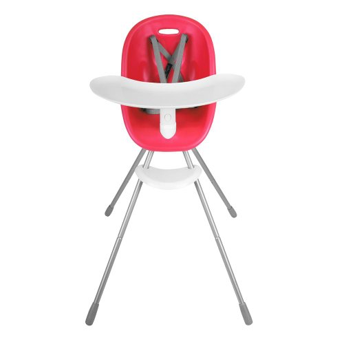 phil&teds Poppy Convertible High Chair, Cranberry – Converts to Child Seat – Ultra-Hygenic Aerocore Seat – Seamless – Hypoallergenic – Anti-Microbial – Dishwasher Safe Tray – Easy Clean – Waterproof
