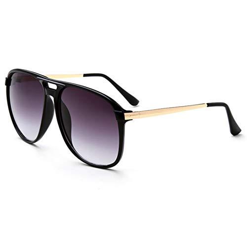 LDH Gafas De Sol Redondas Ultra-pequeñas Retro, Pequeñas Gafas De Sol Redondas Personalizadas, Lentes De Resina De Alta Definición, Marcos De Aleación Ligera, Protección UVA Y UVB (Color : A)