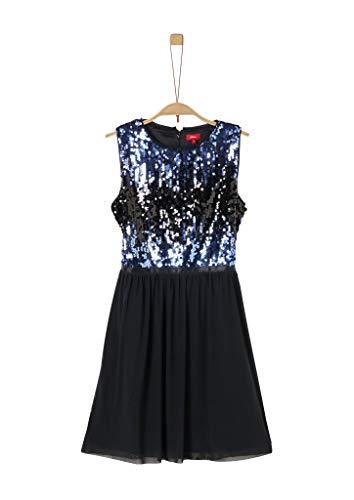 s.Oliver Mädchen 73.911.82.2999 Kleid, Schwarz (Black 9999), 170 (Herstellergröße:170/REG)