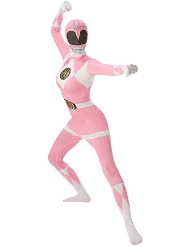 Rubies 's Oficial Adultos de Color Rosa Ranger 2nd Skin Disfraz–Grande