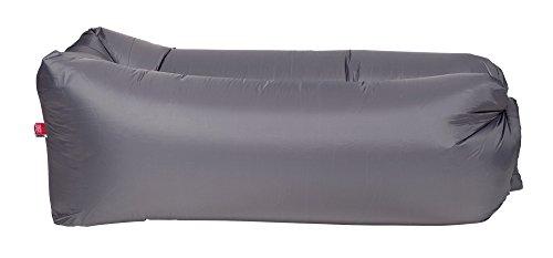 Happy People Lounger to go® Luftmatratze ohne aufpumpen inkl. Tragetasche, grau, 180x75x60cm