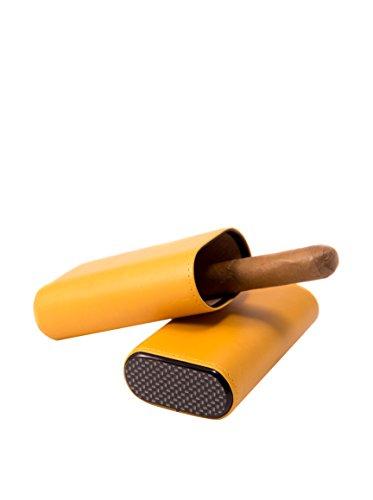 Bey Berk Genuine Leather 3 Cigar Holder Yellow