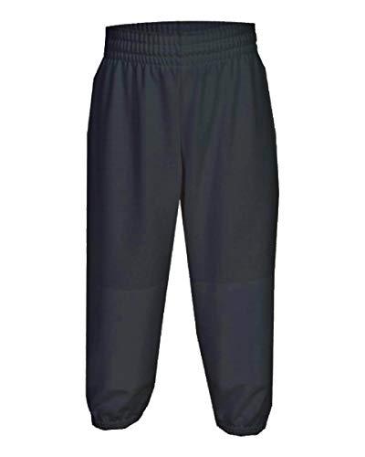 Martin Sports Youth Pull-Up Baseball/Softball Pants (Black, Small)