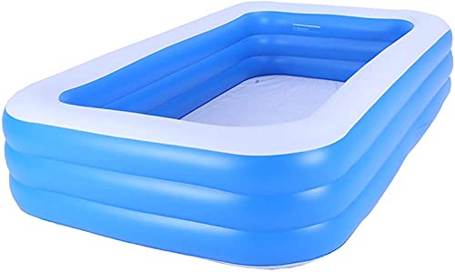 LIUXR Piscinas Hinchable, Piscina Inflable Rectangular Piscina Infantil Inflable Apta para Que Adultos Y Niños Se Reúnan En El Patio, Piscina Exterior E Interior,Blue_ 180x140x60cm
