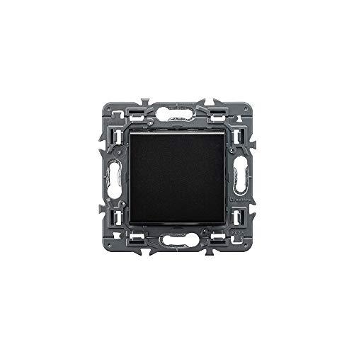 Conmutador unipolar 10 AX, 230V con bornes automáticos de color negro (Legrand 741440)