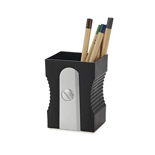 Balvi Portalápices Sharpener Color Negro Mantén tu Escritorio organizado Portalápices Original y Divertido en Forma de sacapuntas Plástico ABS/PP