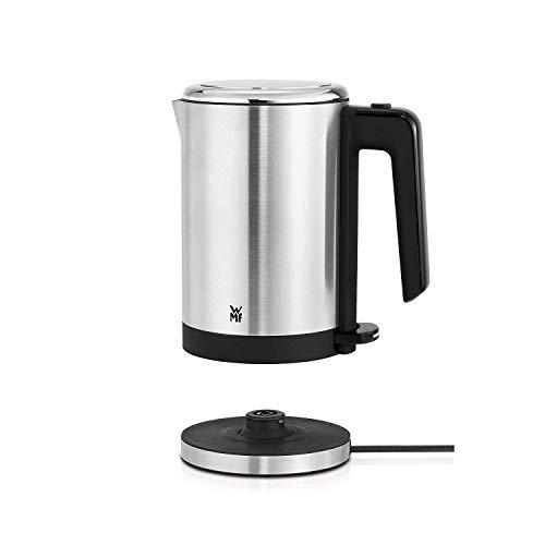 WMF Küchenminis Mini Reise-Wasserkocher Edelstahl 0,8l, elektrischer Wasserkocher mit Kalkfilter, 1800 W, kleiner Teekocher, edelstahl matt