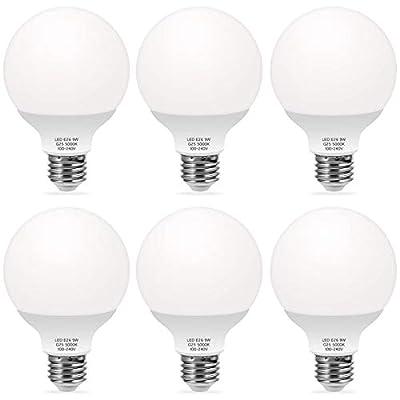 TechgoMade G25 Globe LED Vanity Light Bulbs, 9W...