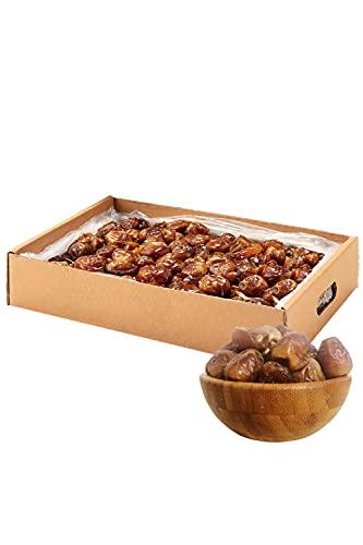 NABALI FAIRKOST Dátiles tiernos Sukkari I Productos de calidad - 100% naturales aromáticos orientales & veganos I Origen: Qassim I Dátiles Sukari sabor miel & caramelo (2 kg)