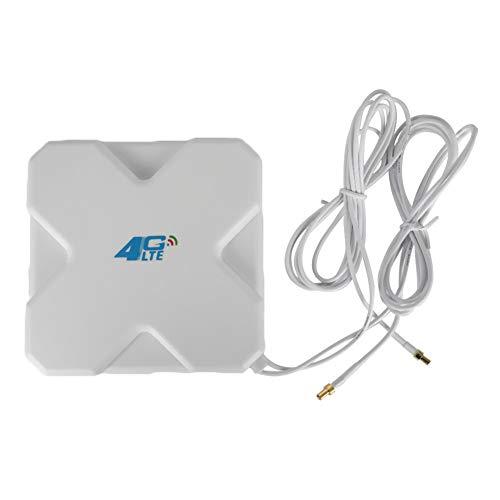 4G LTE-Antenne 35dBi SMA / CRC9 / TS-9-Verstärker mit zwei Verstärkern WiFi Router Mobiles Hotspots Externe Antenne Booster Signalverstärker Kompatibel mit Huawei für Mobilen Breitband-WLAN-Router