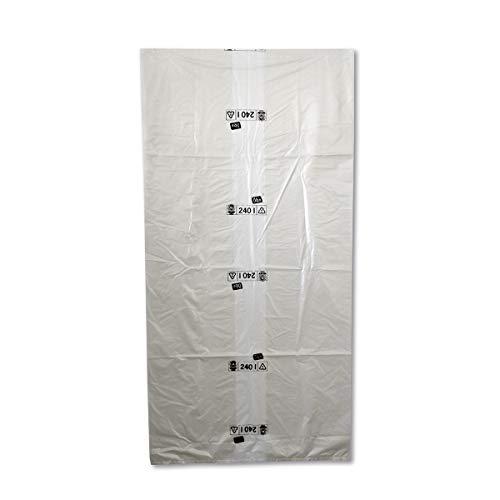 Müllsack/Abfallsack Triline Öko: 240l, transparent – ✓reißfest ✓belastbar ✓100% recyclingfähig, 100 Sack