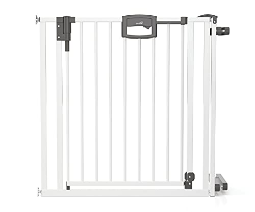 Geuther Türschutzgitter Easylock Plus - Treppenschutzgitter Easylock Plus zum Klemmen Metall Passung: 84, 5 cm - 92, 5 cm