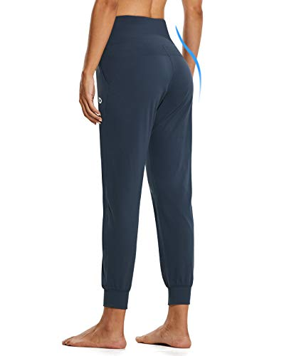 BALEAF Women's Workout Joggers Buttery Soft Athletic Running Jogging Pants Pockets Lounge Gym Plus Size Navy Size 12-14 L