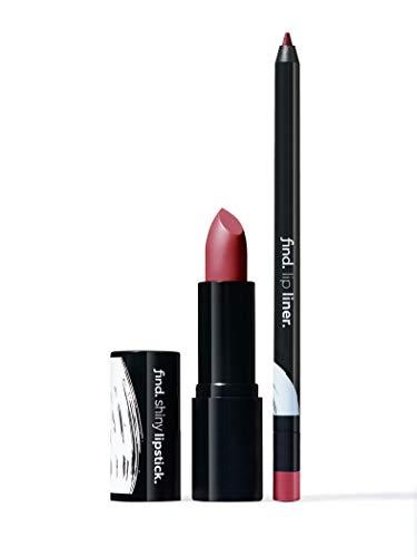 Marca Amazon - find. Glam Revival (Barra de labios brillante n.3 + Perfilador de labios n.4)