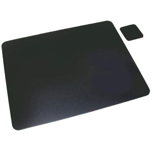 """Artistic 20""""x36"""" Black Bonded Leather Desk Pad & Coaster, Ergonomic, Non-Glare Surface, Protects Your Desktop from Scratches, Stains, and Spills"""