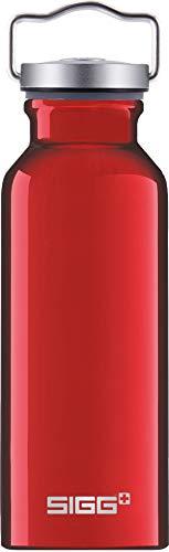 SIGG Original Red Trinkflasche (0.5 L), schadstofffreie und besonders auslaufsichere Trinkflasche, federleichte Trinkflasche aus Aluminium