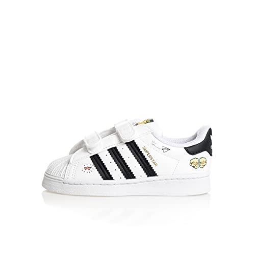 adidas Superstar CF I, Zapatillas Deportivas, FTWR White Core Black Gold Met, 24 EU