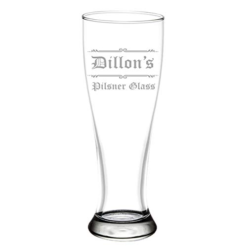 Custom Engraved Craft Pilsner Glass for Craft Beer, 16oz Gift Beer Glasses Christmas Gift for Husband, Boyfriend, Beer Gifts for Him, PLG02