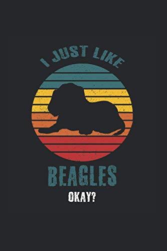Raza del perro Beagle: regalo portátil raza de perro Begles Din A5 con 120 páginas