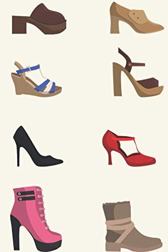 Shopping Notizbuch: Shoppen Notizbuch | 6x9 Zoll DIN A5 | 120 Seiten Punktraster | Schuhe Notizheft | Damenschuhe Tagebuch | Einkaufen Notebook