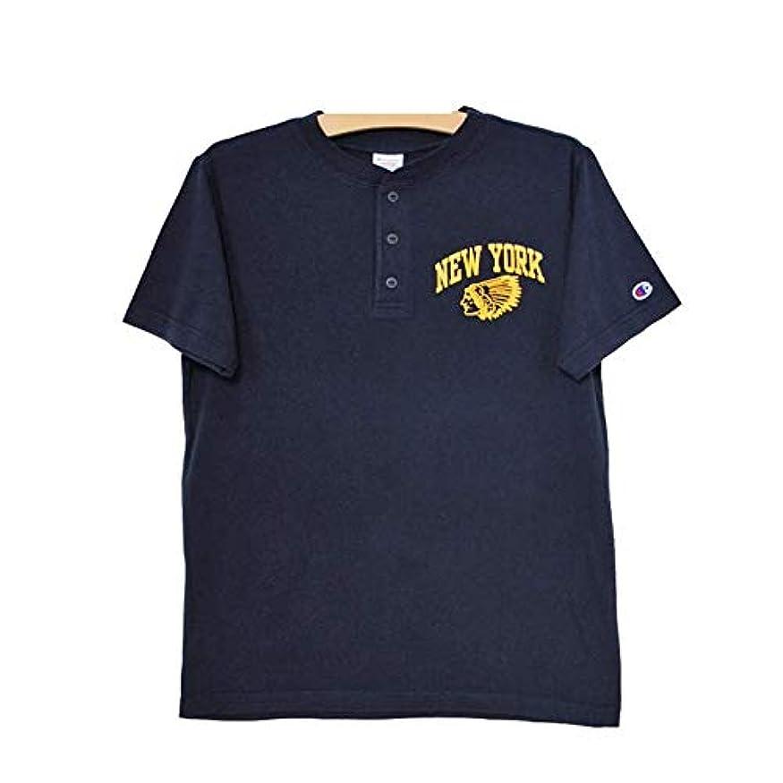 内向き考え排除する[チャンピオン] C3-M334 キャンパス 半袖 プリントヘンリーTシャツ メンズ CAMPUS