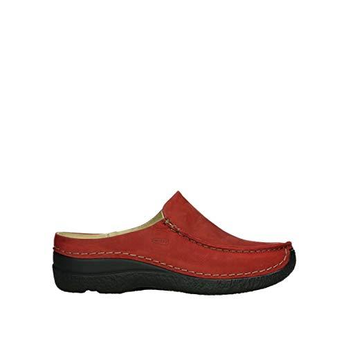 Wolky Comfort Clogs Seamy Slide - 11505 dunkelrot Nubukleder - 41