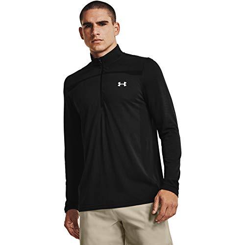 Photo of Under Armour Men's Seamless 1/2 Zip T-Shirt, Mens, T-Shirt, 1361137-001, Black/Mod Grey (001), XL