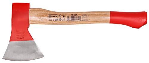 Connex Beil 1000 g - Robuster Stiel aus Eschenholz - Kompakte Form - Kopf 2-fach verkeilt - Zur präzisen Bearbeitung von Holz / Handbeil mit Schneidschutz / Spaltbeil / Camping-Beil / COX842000