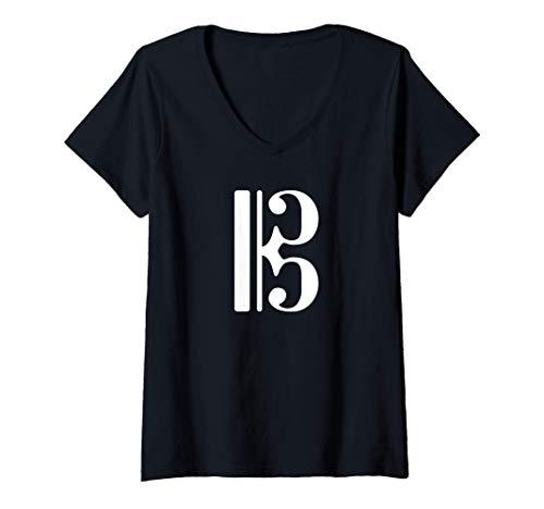 Mujer Clave Alta Clave Tenor Alto Clef Tenor Clef Camiseta...