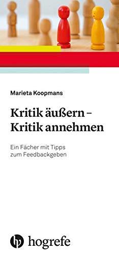 Kritik äußern - Kritik annehmen: Ein Fächer mit Tipps zum Feedbackgeben