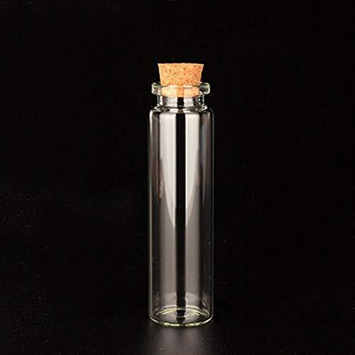 courti Mini-Glasflaschen, Gläser Mit Holzkorken, Kleine Gläser, Flaschen Wünschen, Nachricht Flasche Für Hochzeitsbevorzugungen, Baby-Dusche-Bevorzugungen, DIY Handwerk (5pcs)
