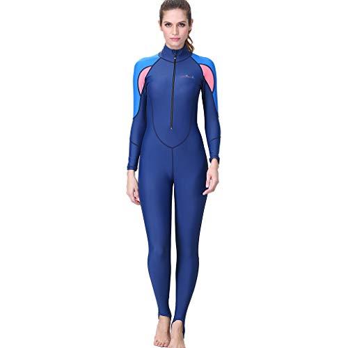 AIni Damen Neoprenanzug,Schnorcheln Surfen Tauchen Einteiliger Ganzkörper Neoprenanzug Badeanzug Wetsuit Schwimmen Surfanzug Surfen Tauchen (M,Blau)