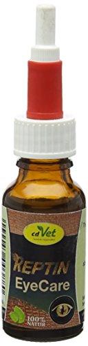 cdVet Naturprodukte REPTIN EyeCare 20 ml - Reptilien - zur schonenden und effektiven Reinigung und Pflege der Augenumgebung - zusätzlichen Pflege bei Bindehautproblemen - mit Rosenwasser -