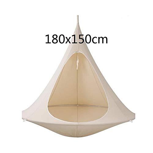 WZ Forma Tipi Árbol Ahorcado Columpio For La Hamaca For Adultos Los Niños Cubierta Tienda Al Aire Libre Patio Muebles Cómodo (Color : White 180cm)