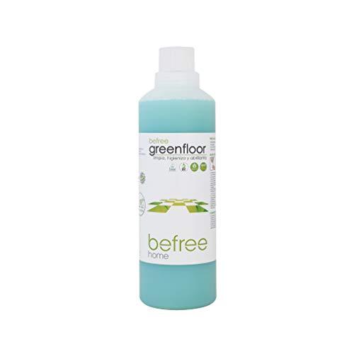 Befree Greenfloor: Detergente suelos ecologico biodegradable y biológico. Friegasuelos ecofriendly 1 l. Jabón ecológico concentrado. Propiedades enzimáticas y abrillantadoras. Ecodiseño.