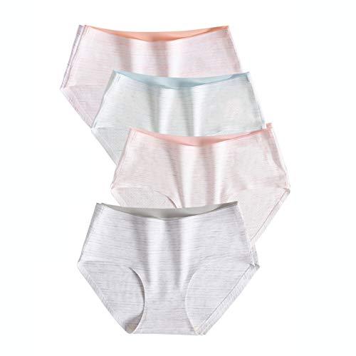Bragas Mujer Ropa Interior Cómoda De Algodón para Mujer, Ropa Interior para Mujer Transpirable Sin Costuras, Pantalones Cortos De Bikini para Mujer, M, L, XL (Color : Style1, Size : Large)
