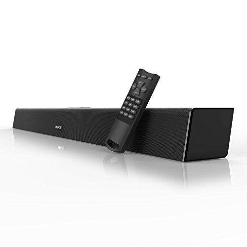 Sound Bar, MEGACRA Soundbar 2018 Version 80 Watt 38-Inch 6 Drivers Wired and Wireless Home Theater Surround Sound Speaker for TV (Optical, Coaxial, Remote Control, DSP, Bass & Treble Adjustable)