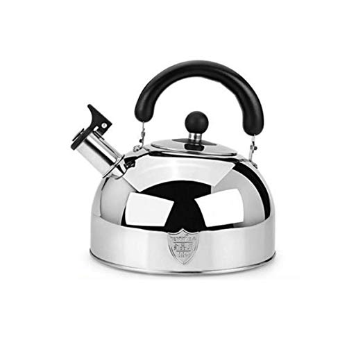 YMSH Household 304 Stainless Steel Anti-scalding Teapot, Thickened Induction Cooker Gas Gas Stove Whistle Boiled Water.Silver 6 liters, Red 5 liters, Red 6 liters (Size : Silver 6 liters)