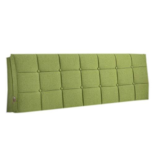 Cojín de lectura grande y suave Cojín de cabecera Almohada Cojines Cuña Estuche blando Desmontable y lavable No deforme, 4 colores, 9 tallas,Verde,withheadboard120cm