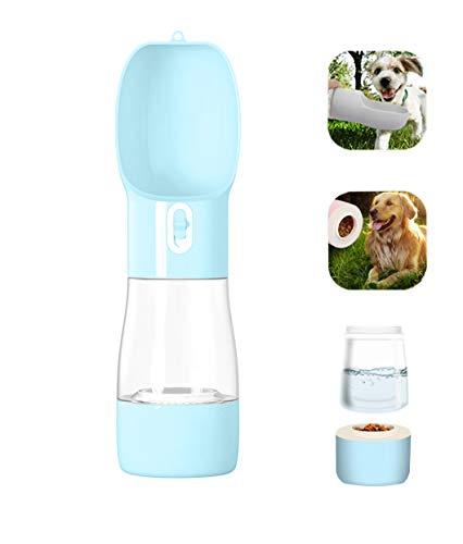 Kaiyingxin Botella de agua para mascotas al aire libre para beber, portátil, sin BPA, antibacteriana, portátil, a prueba de fugas (azul)