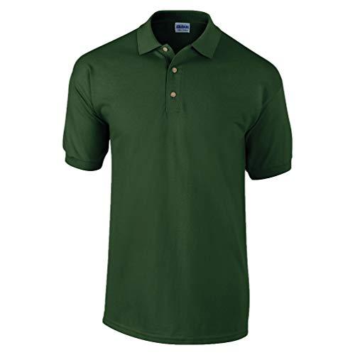 Gildan, Pique-Poloshirt aus Baumwolle Gr. L, wald