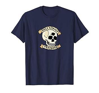 Duly & Truly Prepared Masonic Tattoo Skull T-Shirt