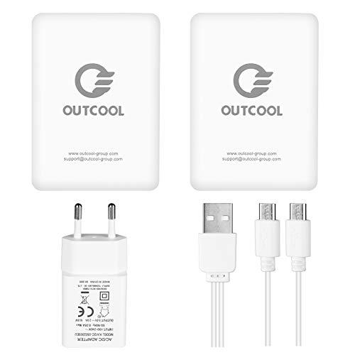OUTCOOL Batería Externa 4100mAh con Pantalla LED de Potencia Cargador Portátil para Guantes Calefactores Eléctricos